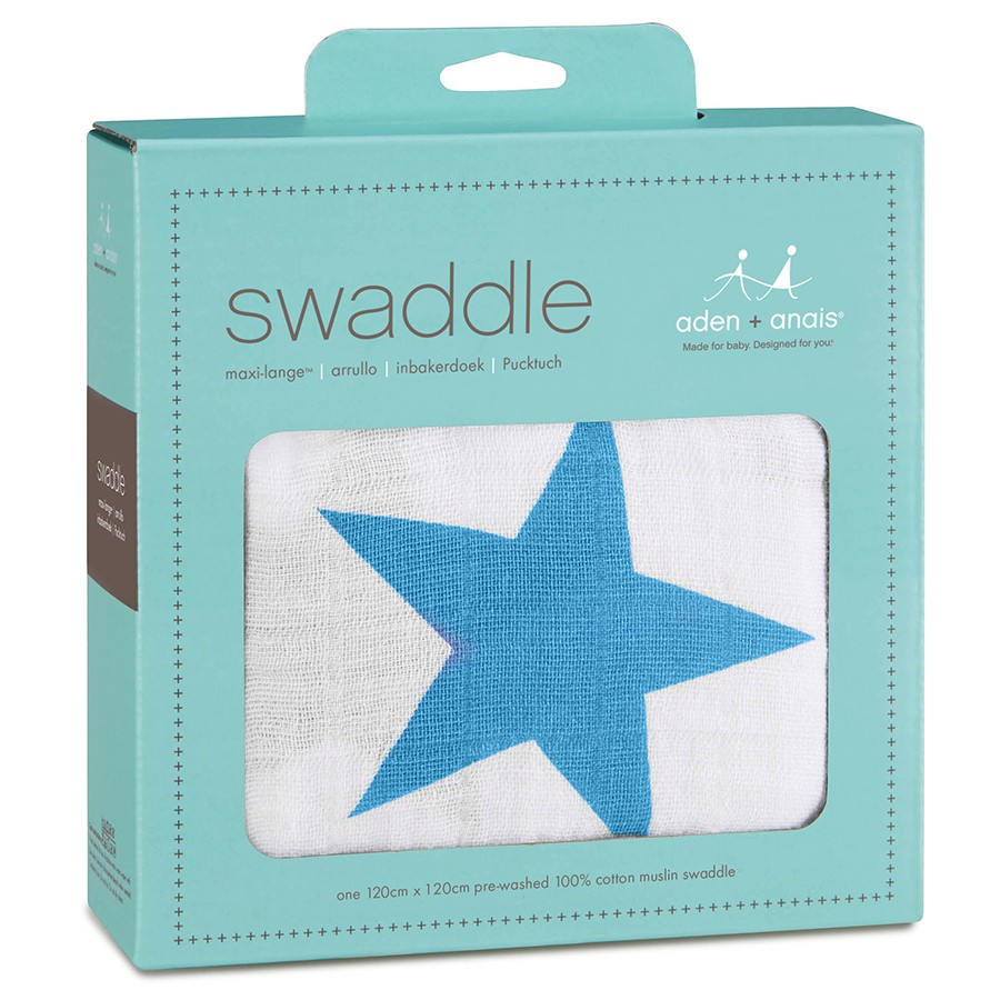 Aden + Anais Brilliant Blue Star Swaddle