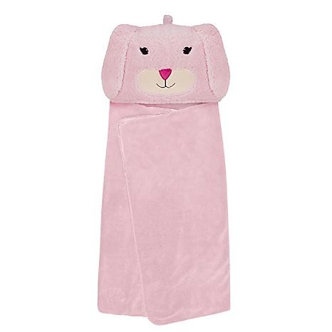 Snuggable Hooded Blanket Pink Bunny