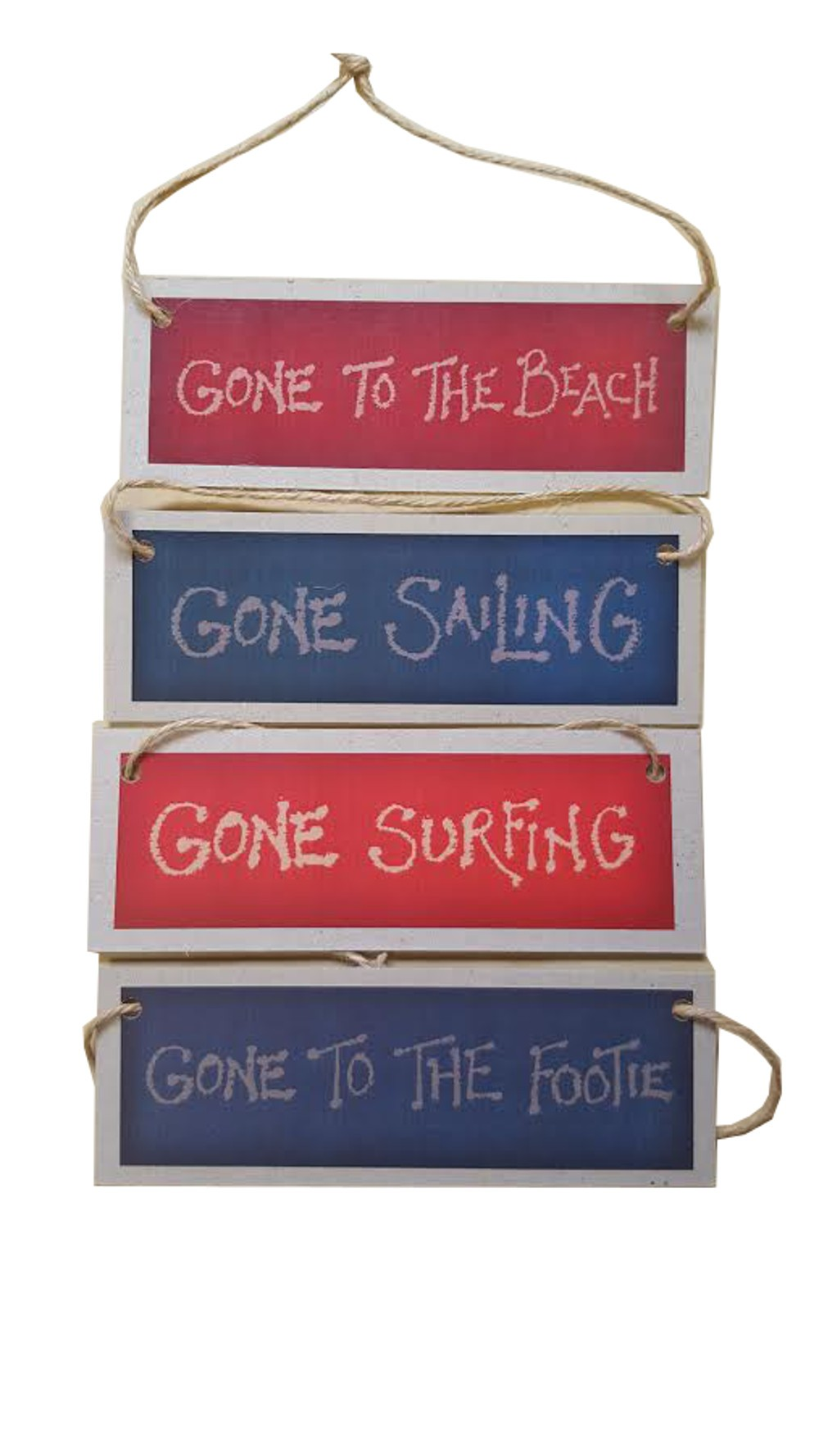 """Gone Sailing/Surfing/To The Beach/To The Footie"" Sign"
