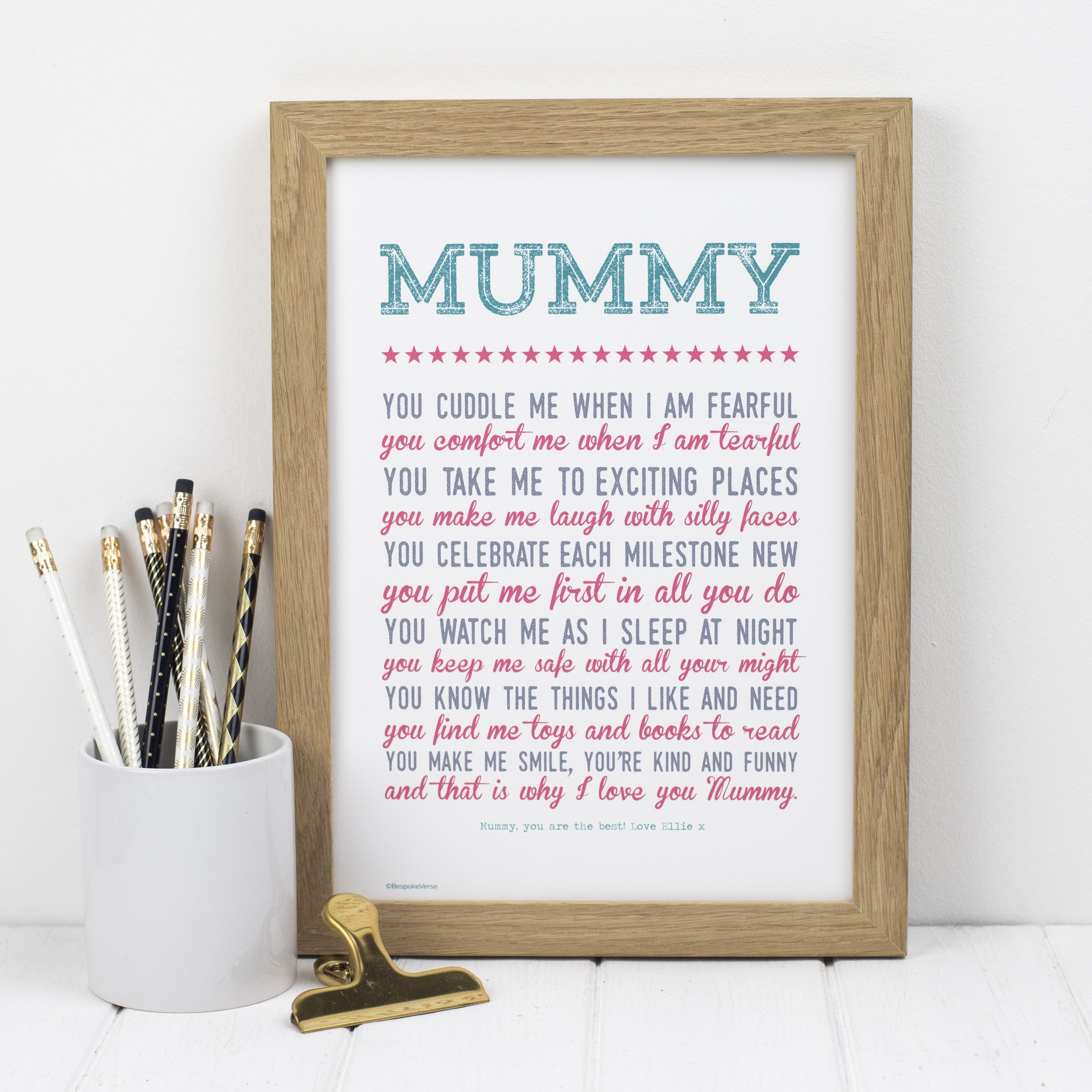 Why I Love You Mummy Print