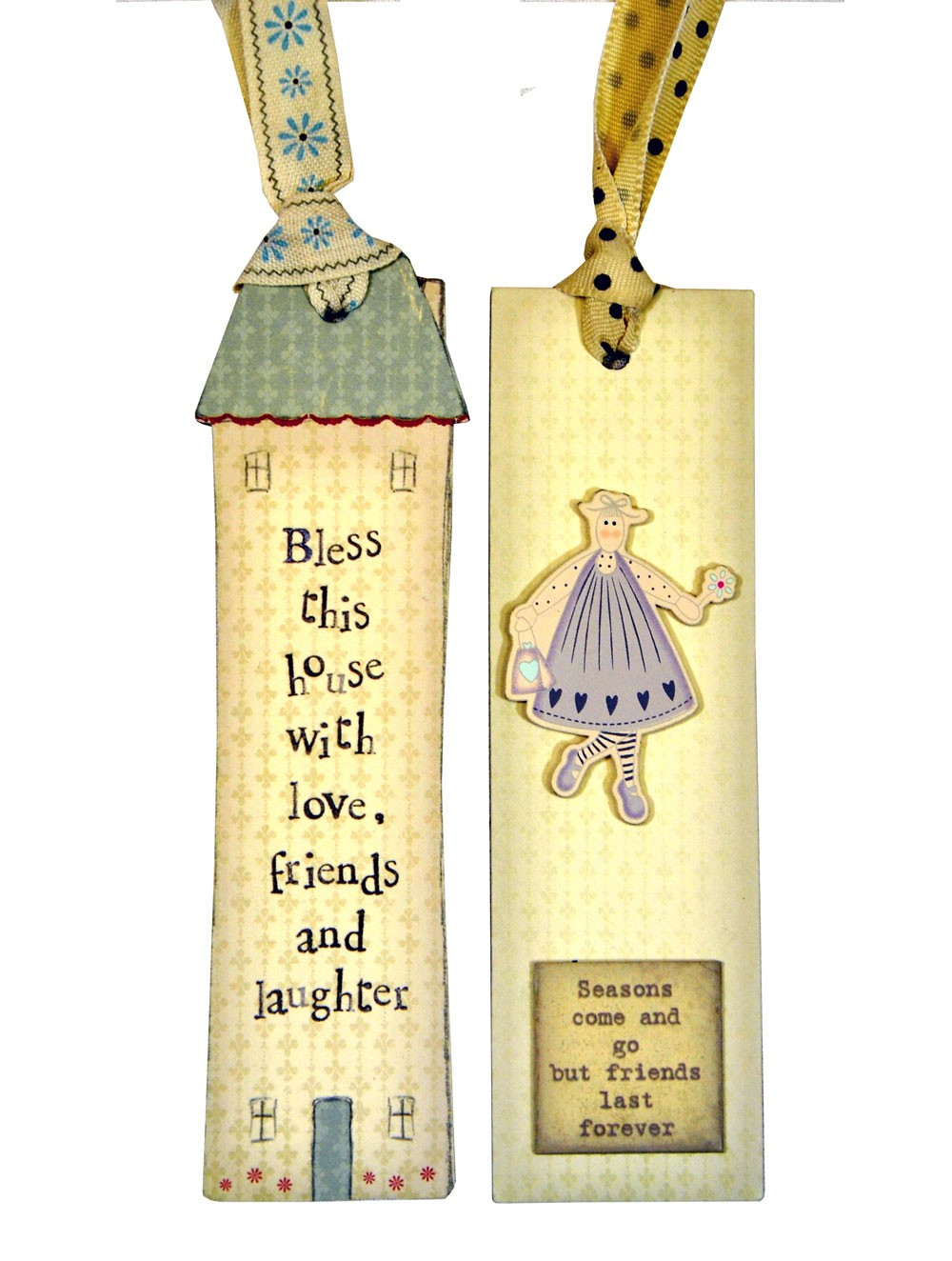 """Friends Last Forever"" Bookmark by East of India"