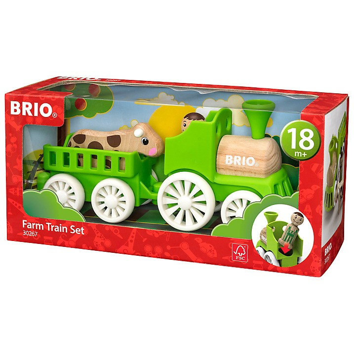 Brio Farm Train Set  (Age 18+ months)