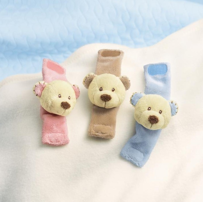 Cozy Cuddles Teddy Bear Wrist Rattle