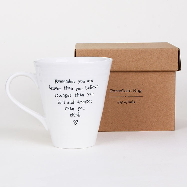 East of India You Are Braver Porcelain Mug
