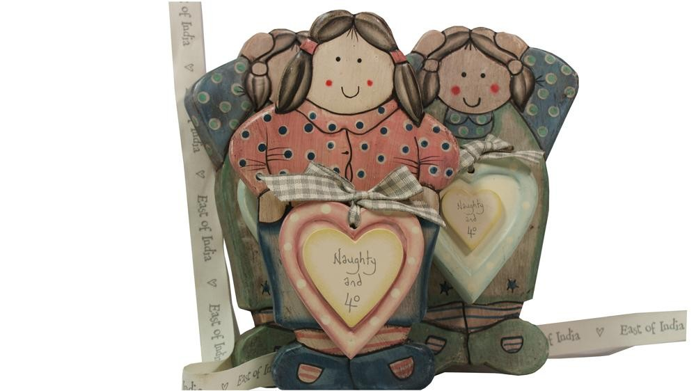 Potty Lady Hand Decorated Age Plaque