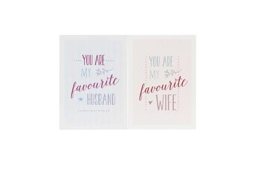 You Are My Favourite Husband Wife Card