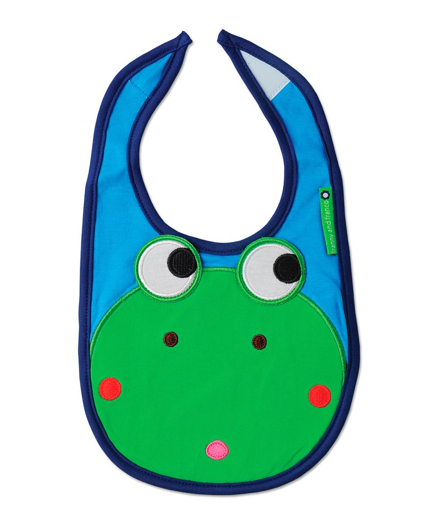 Franco the Frog Bib by Olive & Moss