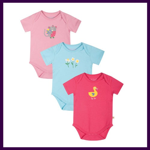 Frugi Super Special 3 Pack Body Ducky Multipack