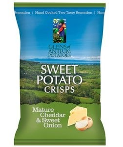 Cheddar & Onion Sweet Potato Chips 40g