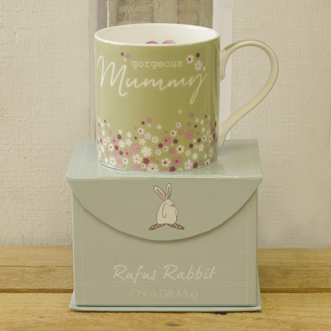 Gorgeous Mummy China Mug by Rufus Rabbit