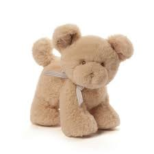 Gund Oh So Soft Puppy Tan Rattle