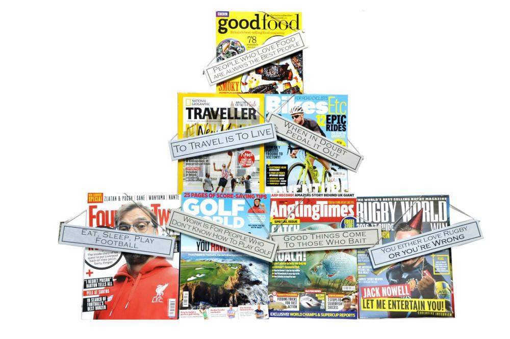 Hobby Magazine with plaque
