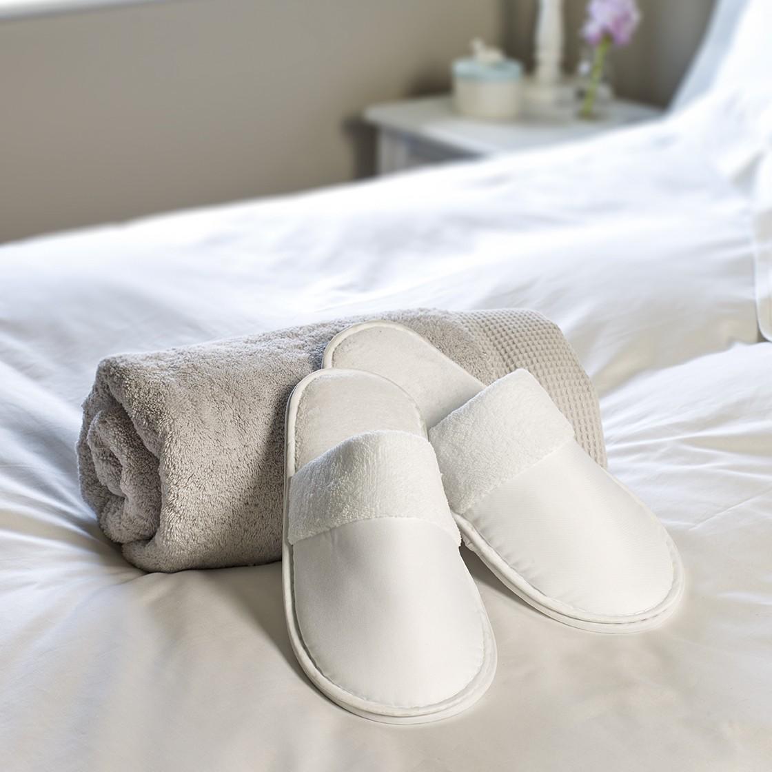 Ritz Carlton Satin Weave Slippers