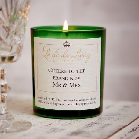 """Mr and Mrs"" Candle by La De Da Living"