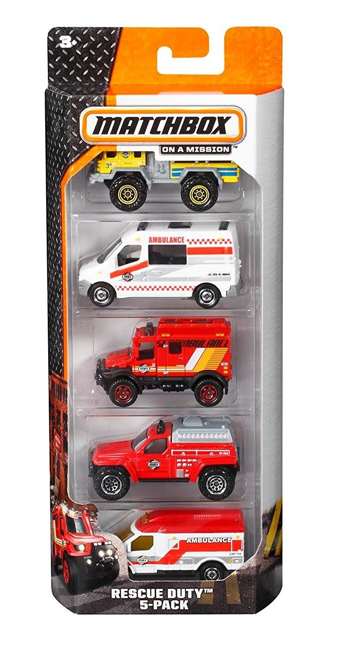 Set of 5 Matchbox Cars by Mattel