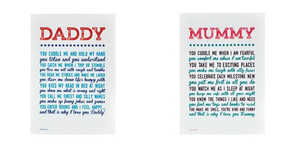 Why I Love You Mummy/Daddy Print