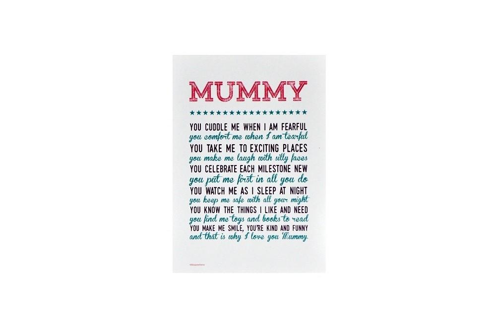 Why I Love You Mummy Print