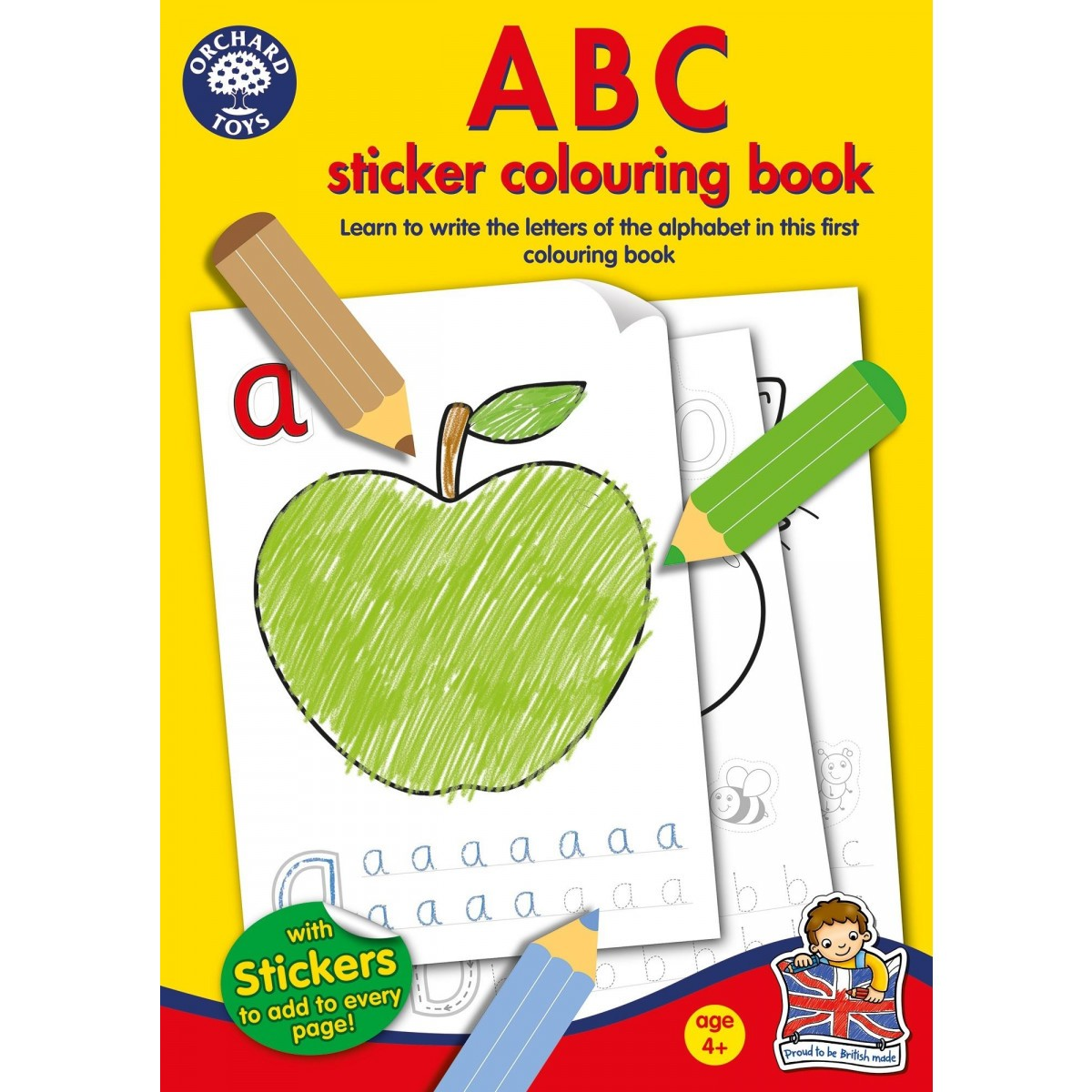 A B C Sticker Colouring Book by Orchard Toys