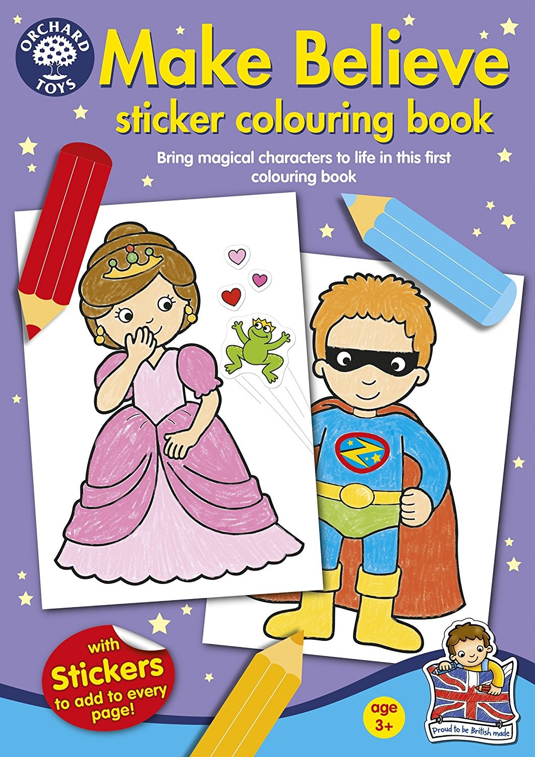 Make Believe Sticker Colouring Book by Orchard Toys