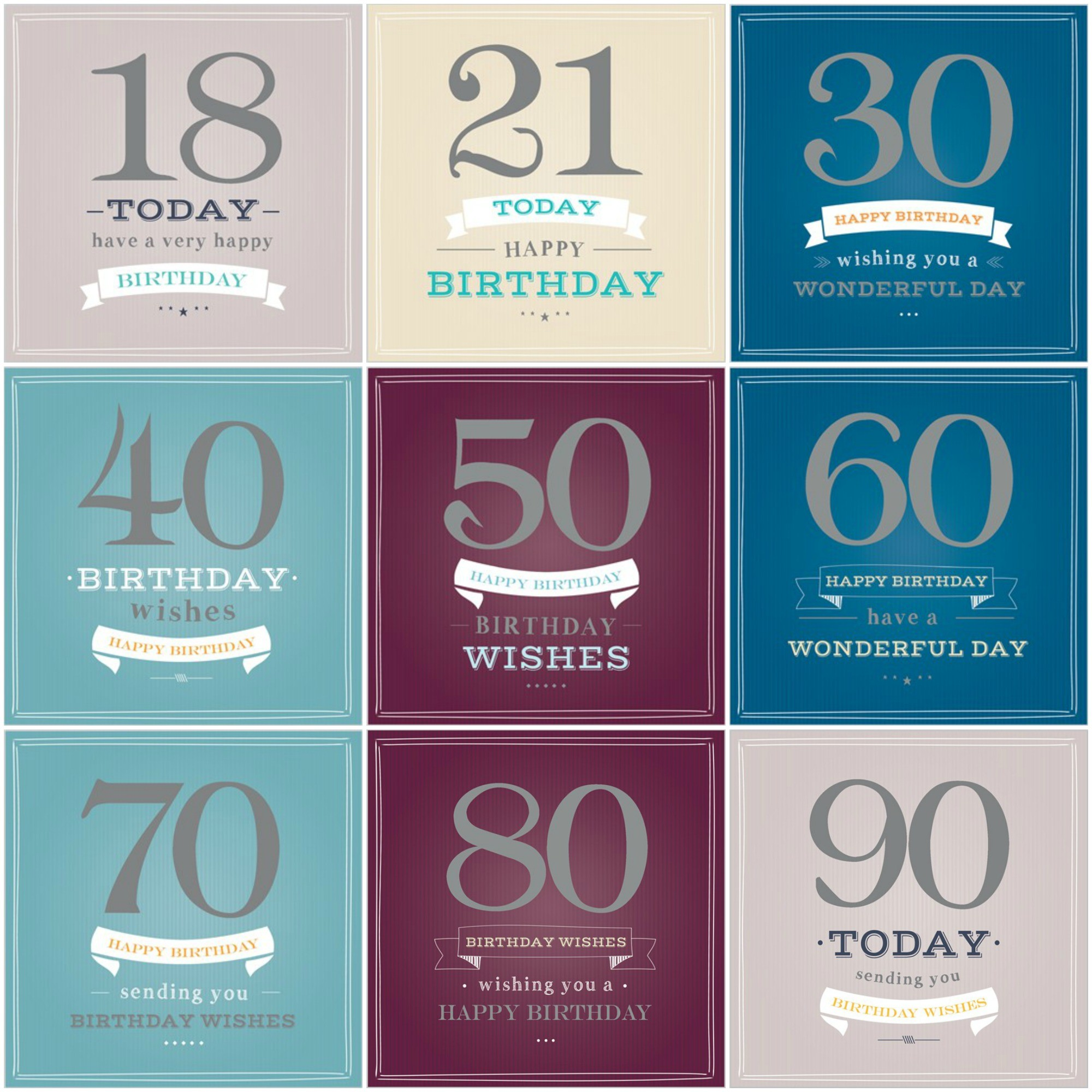 """Birthday Age"" Card For Him"