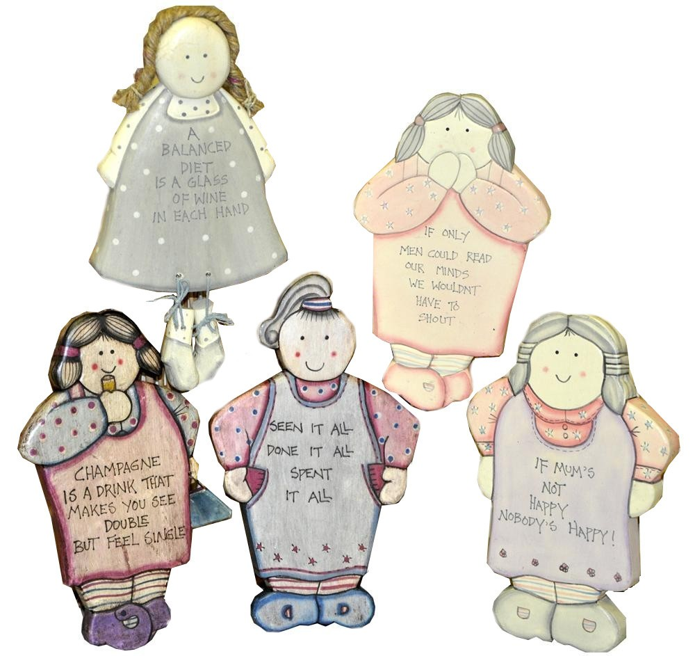 Potty Lady Hand Decorated Slogan Plaque