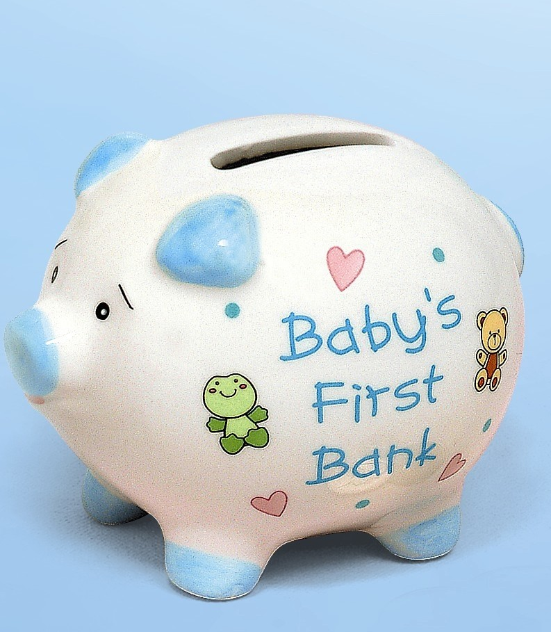 My First Piggy Bank - Blue