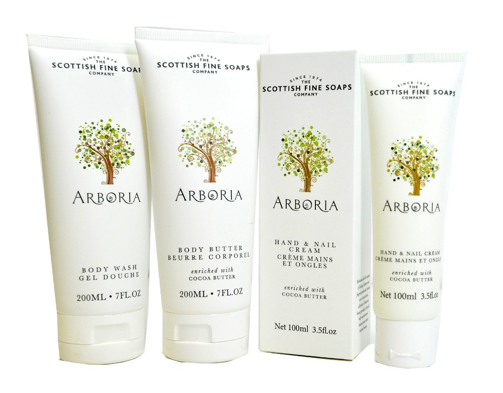 arboria body care by scottish fine soaps. Black Bedroom Furniture Sets. Home Design Ideas