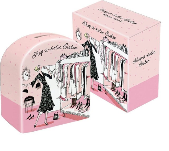 Shop-A-Holic Sister Moneybank by Suki Gifts