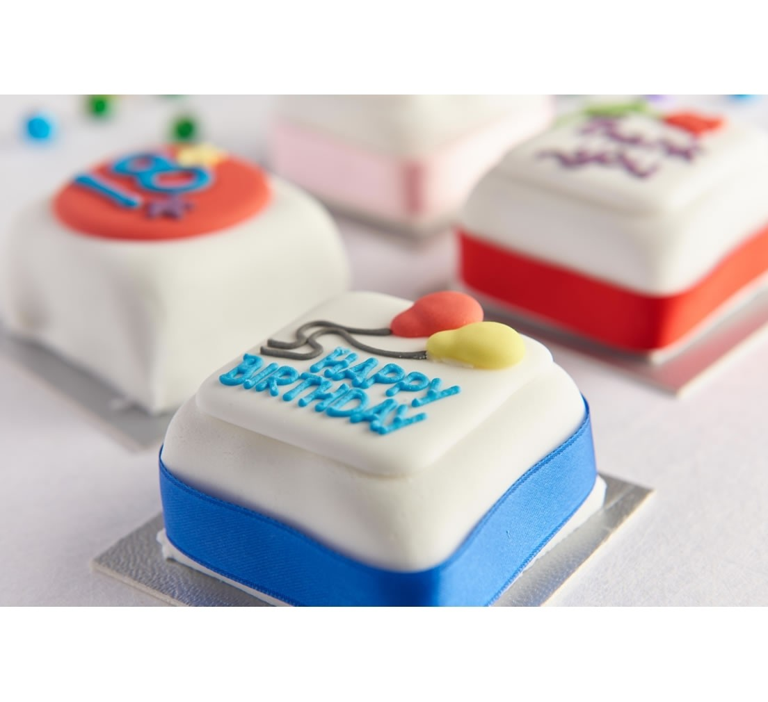 Mini Happy Birthday Cake Age 18 21 30 40 50 And 60 Years