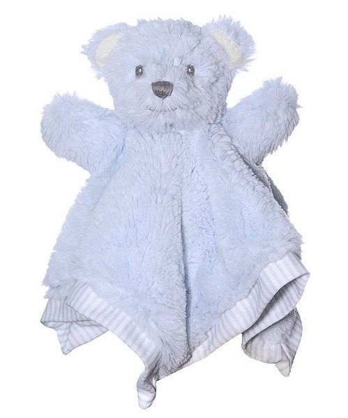 Hug-a-Boo Teddy Bear Blankie Blue