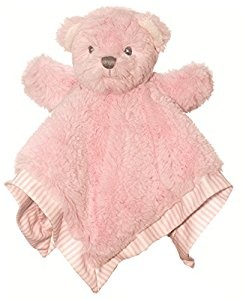 suki teddy bear blankie comforter pink