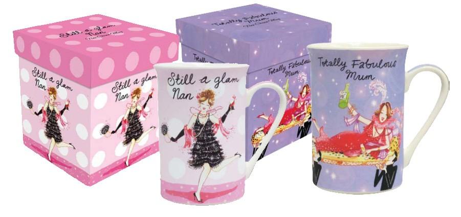 Mug Fabulous Mum Glam Nan