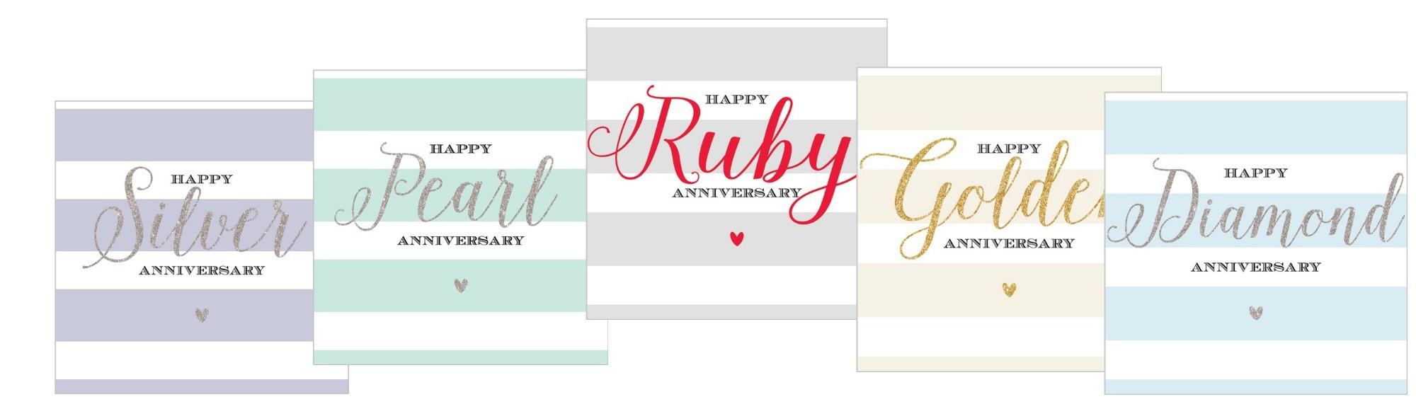 Anniversary Milestone Gift Cards