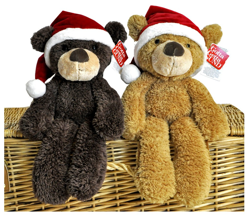Fuzzy Christmas Teddy by Gund