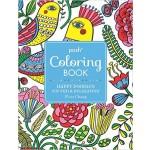 """Happy Doodles"" Posh Colouring Book"