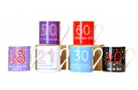 18, 21,30, 40,50, 60 Birthday Mugs