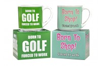 Born To Shop Golf Mug