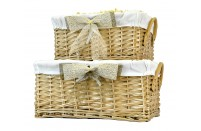 Deep Fabric Lined Gift Basket