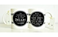 Inspirational Message Mug East of India