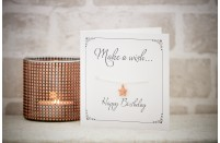 """Happy Birthday"" Rose Gold & Silver Plated Bracelet & Gift Card in One"