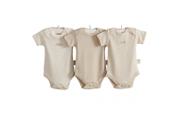 Hug Me Bear Triple Pack of Organic Bodysuits by Natures Purest (3-6 months)