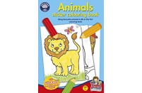 Animals 24 page Sticker Colouring Book from Orchard Toys