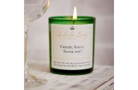 'Cheers, Salut, Thank You'  Candle