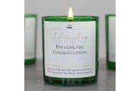 'Pop, Clink, Fizz…Congratulations' Pop Candle