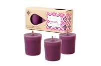 Detoxifying 3 scented soy-based votive candles from Root Candles