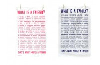 'What Is A Family/Friend?' Poem Tea Towel
