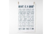 """What Is A Dad"" Witty Tea Towel"